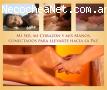 Masajes californiano y relajante sensorial